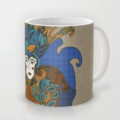 psychedelic portrait from the queen Mug by Viviana González - $16.00