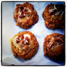 SCD Pumpkin Pecan Scones (*Omit flax seed, use fresh pumpkin puree, substitute honey for maple syrup & use coconut milk...)