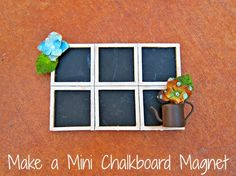 Dollar Store Crafts » Blog Archive Tutorial: Mini Chalkboard Magnet » Dollar Store Crafts