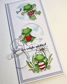 Marianne Design, Copic, Frogs, My Style, Slime, Cards, Scrapbooking, Instagram, Birth