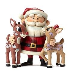 Jim Shore for Enesco Santa Hugging Rudolph & Clarice Figurine, Enesco Gift-manufacturing the most beloved home decor products for more than 50 years Meticulously Hand crafted Artist designed; globally recognized for quality Santa Figurines, Disney Figurines, Christmas Figurines, Collectible Figurines, Rudolph Christmas, Father Christmas, Merry Christmas, Christmas Time, Christmas Ideas