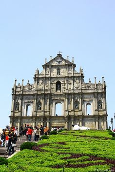 Portuguese ruins of St. Pauls, Macau built from 1582-1640 and destroyed by fire in 1835 | UNESCO World Heritage Site