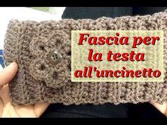 FASCIA PER LA TESTA ALL'UNCINETTO CROCHET HEADBAND - YouTube Cowl Scarf, Shawl, Dou Dou, Fingerless Gloves, Arm Warmers, Crochet Hats, Diy Crafts, Homemade, Knitting