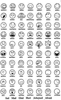 feeling faces high school - Google Search
