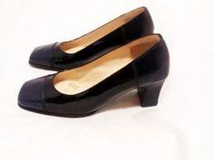 b3a5c60f4c FINISIMO Navy Blue Shoes Leather Pumps Shoes 5.5 E with Heels Professional  Shoes, Women's Pumps
