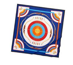 "Arcs en Ciel    Silk Jersey scarf, hand-rolled, 36"" x 36""    Ref. 351692S04  $620.00"