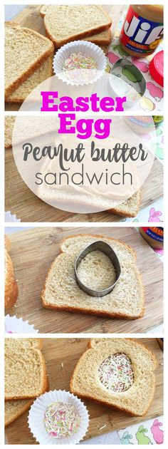 Peanut Butter Easter Egg Sandwich - What kid wouldn't love this sweet treat on Easter? Such a quick sandwich to make too!
