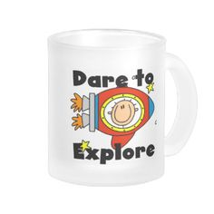 "A stick figure astronaut in his spaceship blasts off to lands unknown. Text reads ""Dare to Explore"" on astronaut T-shirts, mugs, cards, stickers, tote bags, magnets, and other gear perfect for anyone who loves stick figures and outer space! #space #outer #space #astronaut #astronaut #tshirt #outer #space #tshirt #astronaut #mug #astronaut #stickers #astronaut #magnet #astronaut #bag #astronaut #hoodie #cute #astronaut #stick #figures #stick #people #explore #exploration #space #exploration…"