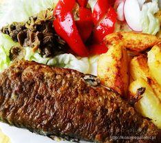 Pstrąg smażony na maśle z natką pietruszki - Kosą po patelni Steak, Recipes, Food, Recipies, Essen, Steaks, Meals, Ripped Recipes, Yemek