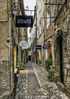 Street in Saint-Paul-de-Vence, France