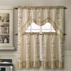 Daphne Valance And Tier Set · Kitchen Window CurtainsKitchen Curtain  SetsKitchen ...