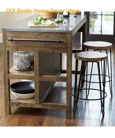 Astonishing Rustic Kitchen Island Design And Decoration Ideas - Page 44 of 49 - Making Your Dream Home a Reality Maple Kitchen Cabinets, Rustic Kitchen Island, Kitchen Cabinet Design, Kitchen Islands, Country Kitchen, Cabinet Space, Kitchen Cabinetry, Kitchen Furniture, Kitchen Decor