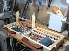wood carving tool box