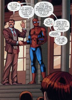 Spiderman and Jameson XD