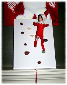 Elf and jelly bean climbing wall