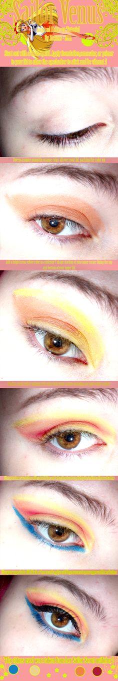Sailor Venus Makeup Tutorial by =kattors on deviantART