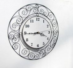 Wire Art, Wire Wrapping, Diy And Crafts, Weaving, Beads, Metal, Art Floral, Clocks, Craft
