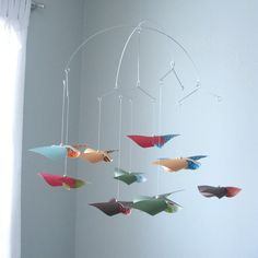 Crib Mobile / Baby Mobile / Nursery Mobile / Colorful by mamax2, $69.50