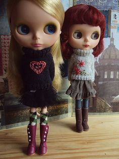 Sweater Girls | I embellished two of my woolly rockers sweat… | Flickr