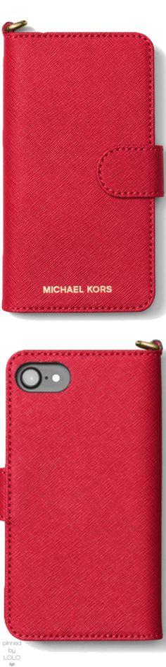 MICHAEL MICHAEL KORS Saffiano Leather Folio Phone Case For iPhone 7