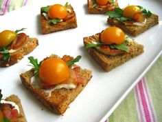 Stacey Snacks: Great Appetizers: Mini BLTs