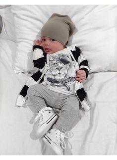 Beau Hudson Beau Hudson Premium Knit cardigan - Black & White - baby
