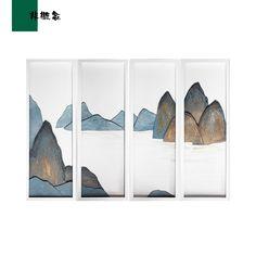 Hanging Paintings, Popular Art, Panel Wall Art, Modern Wall Art, Chinese Art, Art Inspo, Wood Art, Watercolor Art, Framed Art