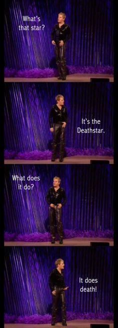 Eddie Izzard's Death Star Canteen skit, so funny, lol