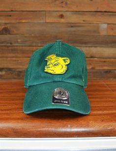 Green Baylor Sailor Bear vintage hat