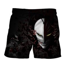 Bleach Ichigo Hollow Face Mask Cool Style Basic Shorts    #Bleach #Ichigo #Hollow #Face #Mask #Cool #Style #Basic #Shorts