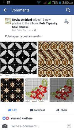 mbak ini keren, bikin pola tapestry en x-stitch motif batik. suka ^^