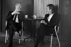 Christoph Waltz and Ewan McGregor by Peter Lindbergh