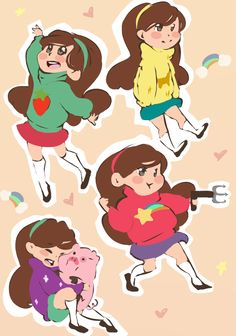 mabel of gravity falls    She's so cute but I wish I could do all of her sweaters! Obviously I'm choosing the Kitty one, though. Gonna have to learn how to hook up lighting circuits.