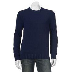 Big & Tall Croft & Barrow® Classic-Fit 5GG Crewneck Sweater, Men's, Size: Xl Tall, Blue