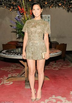 Olivia Munn was unmissable in a $12,000 Valentino romper at an event in NYC http://dailym.ai/YE6qsv