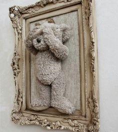 Schilderij beer kinderkamer babykamer