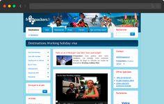 Pedestrian travelers website