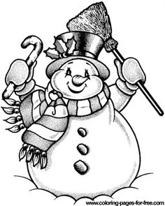 Download Free Printable Snow Mans 2 Coloring Pages