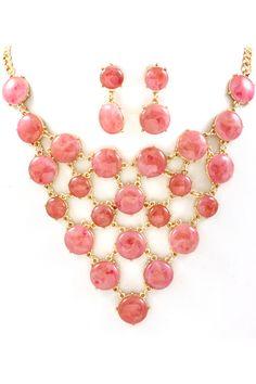 Strawberry Jaqueline Necklace on Emma Stine Limited