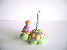 Turtle Birthday Cake topper Children's by PaisleyandParadise, $20.00