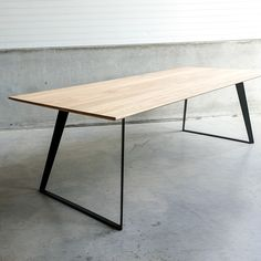 designing a home Metal Dining Table, Oak Table, Steel Table, Dining Room Table, Dinner Tables Furniture, Office Table Design, Esstisch Design, Kitchen Room Design, Rustic Coffee Tables