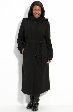 Not exactly a Trench, but very close, in a longer length for walking; still has a belt tie.  $138.90