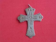 Sterling Silver Southwestern Cross Pendant by pasttimejewelry, $40.00