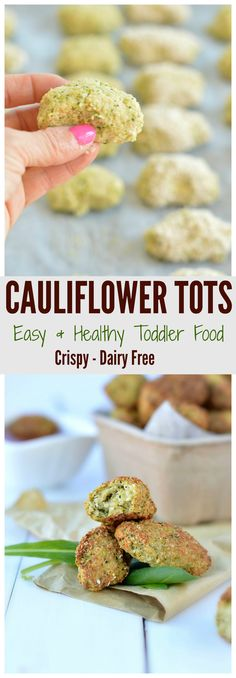 For all picky eaters those cauliflower tots are the trick to make your toddler eat vegetables1 Super quick & easy to make as a busy mum I just love it! Easy freeze. Dairy free. #cauliflower #broccoli #tots #toddler #food #recipe #fingerfood #picky eaters