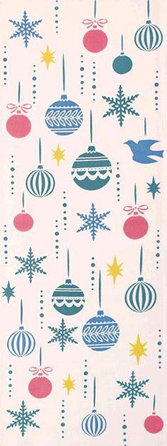 オーナメントボール 薄紅 Christmas Poster, Merry Christmas Card, Vintage Christmas Ornaments, Christmas Art, Christmas Projects, Xmas, Retro Illustration, Christmas Illustration, Japanese Patterns