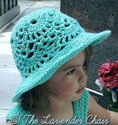 Lacy Shells Sun Hat - Free Crochet Pattern - The Lavender Chair. Written pattern. Matching dress pattern is also free.