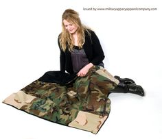 A large camo blanket with soft backing perfect for baby shower gift by www.militaryapparelcompany.com specializing in custom handbags, purses and accessories crafted from personal military uniforms. We also offer Military Blankets and awesome Military gifts for the entire family! www.facebook.com/militaryhandbag