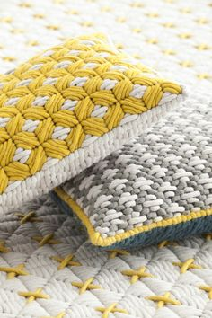 RECTANGULAR HAND EMBROIDERED FABRIC CUSHION SILAÏ COLLECTION BY GAN BY GANDIA BLASCO | DESIGN CHARLOTTE LANCELOT