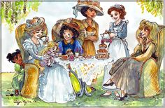 The brief was to portray Disney princesses enjoying a little tea party but they all had to be portrayed the same age as their respective movies (for example Snow White would be 75 years old, Aurora 53, Belle 21, Rapunzel 2 etc).