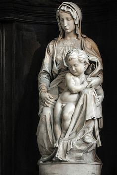 MICHELANGELO ~ Madonna child.